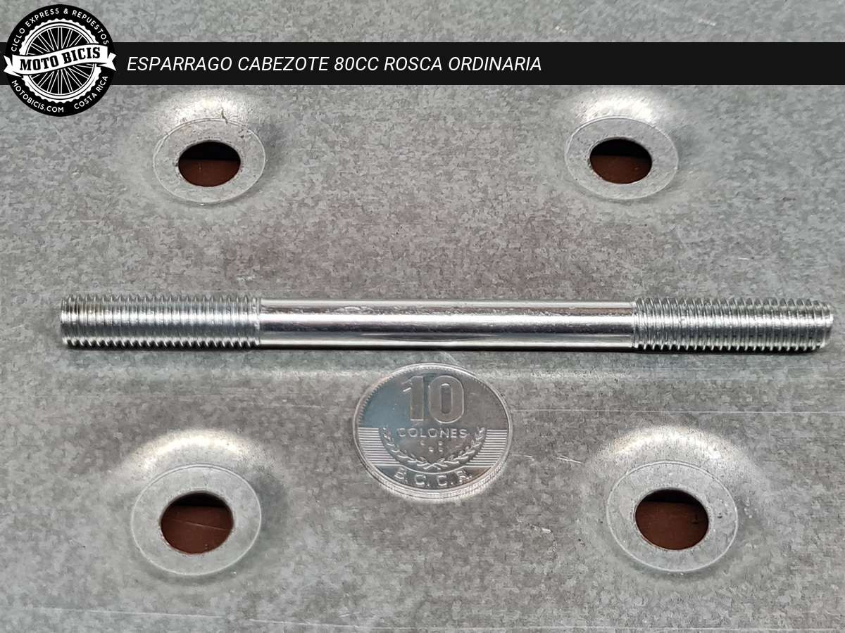 ESPARRAGO CABEZOTE 80cc ROSCA ORDINARIA