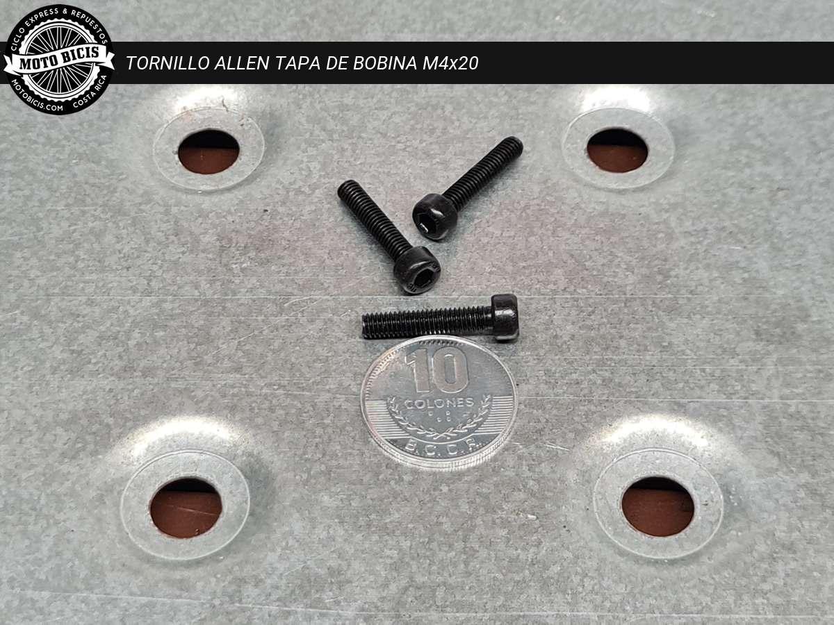TORNILLO ALLEN TAPA BOBINA M4x20