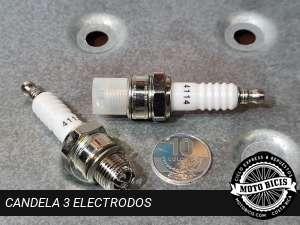 BUJIA CANDELA 3 ELECTRODOS para bicimoto