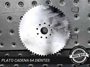 PLATO DE CADENA 64 DIENTES para bicimoto